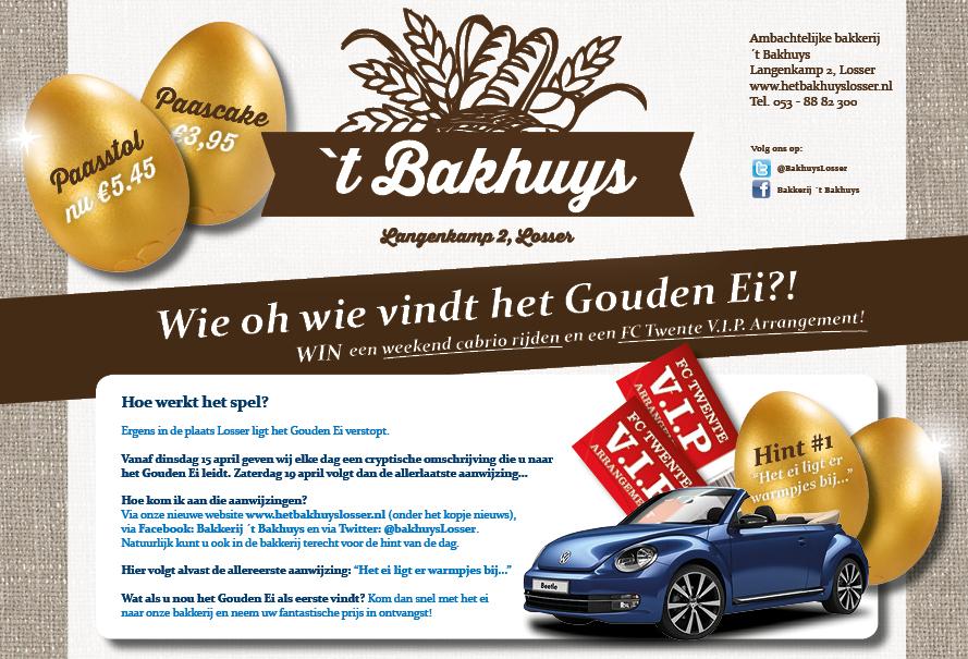 Paasactie Gouden ei Bakhuys